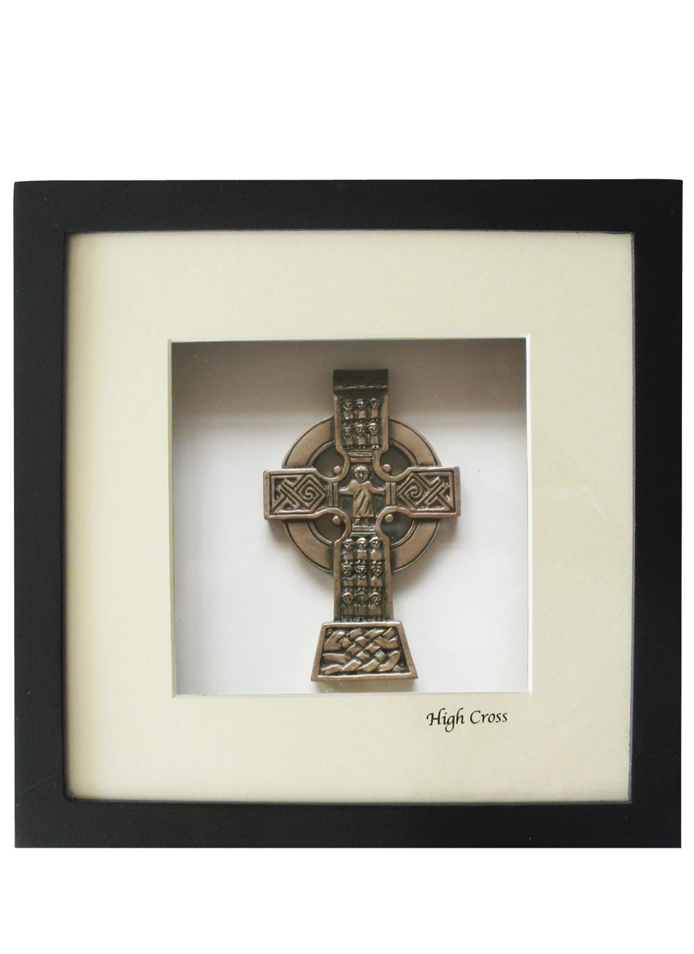 Celtic wall plaques celtic cross blarney irish high cross bronze cross wall mount amipublicfo Images