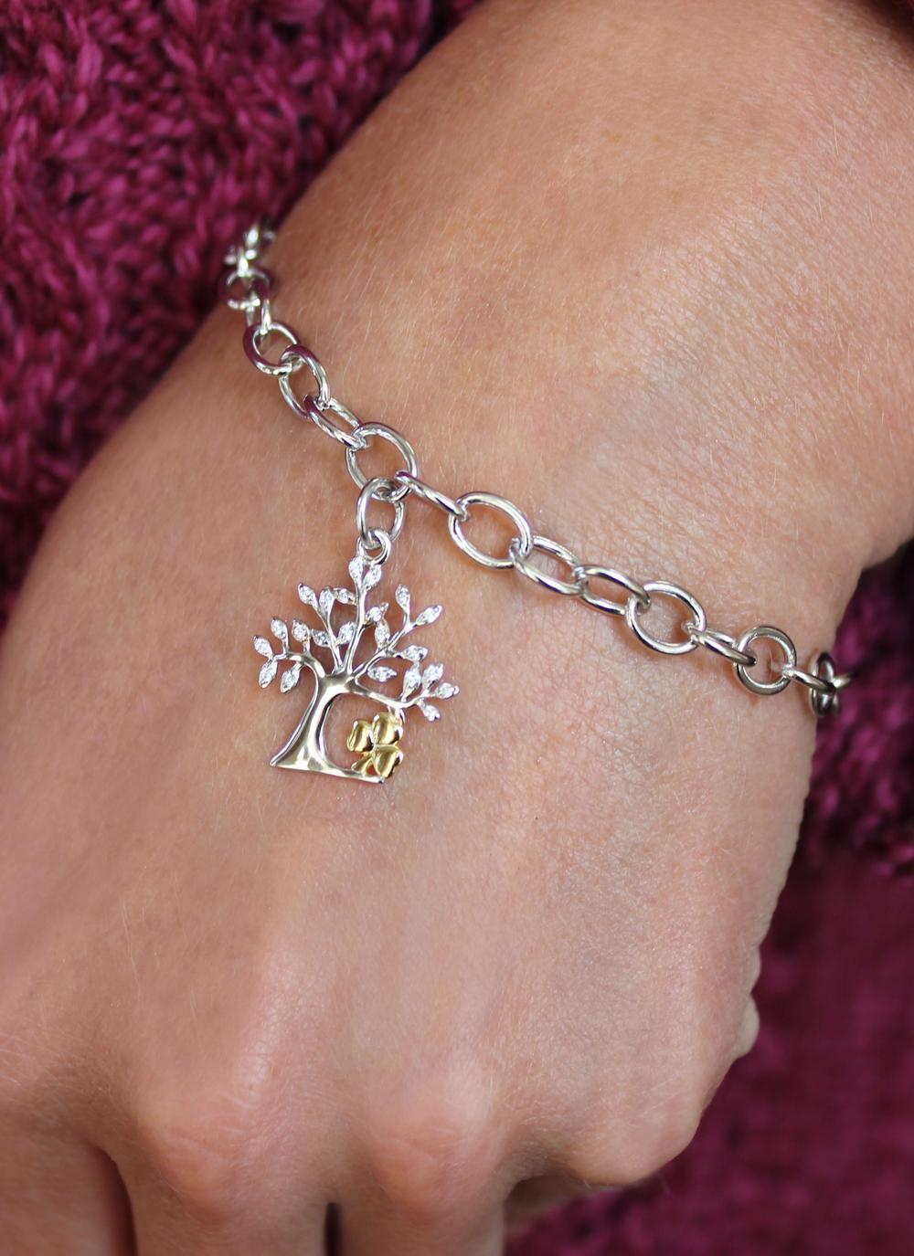 Celtic Tree Of Life Shamrock Bracelet | Blarney