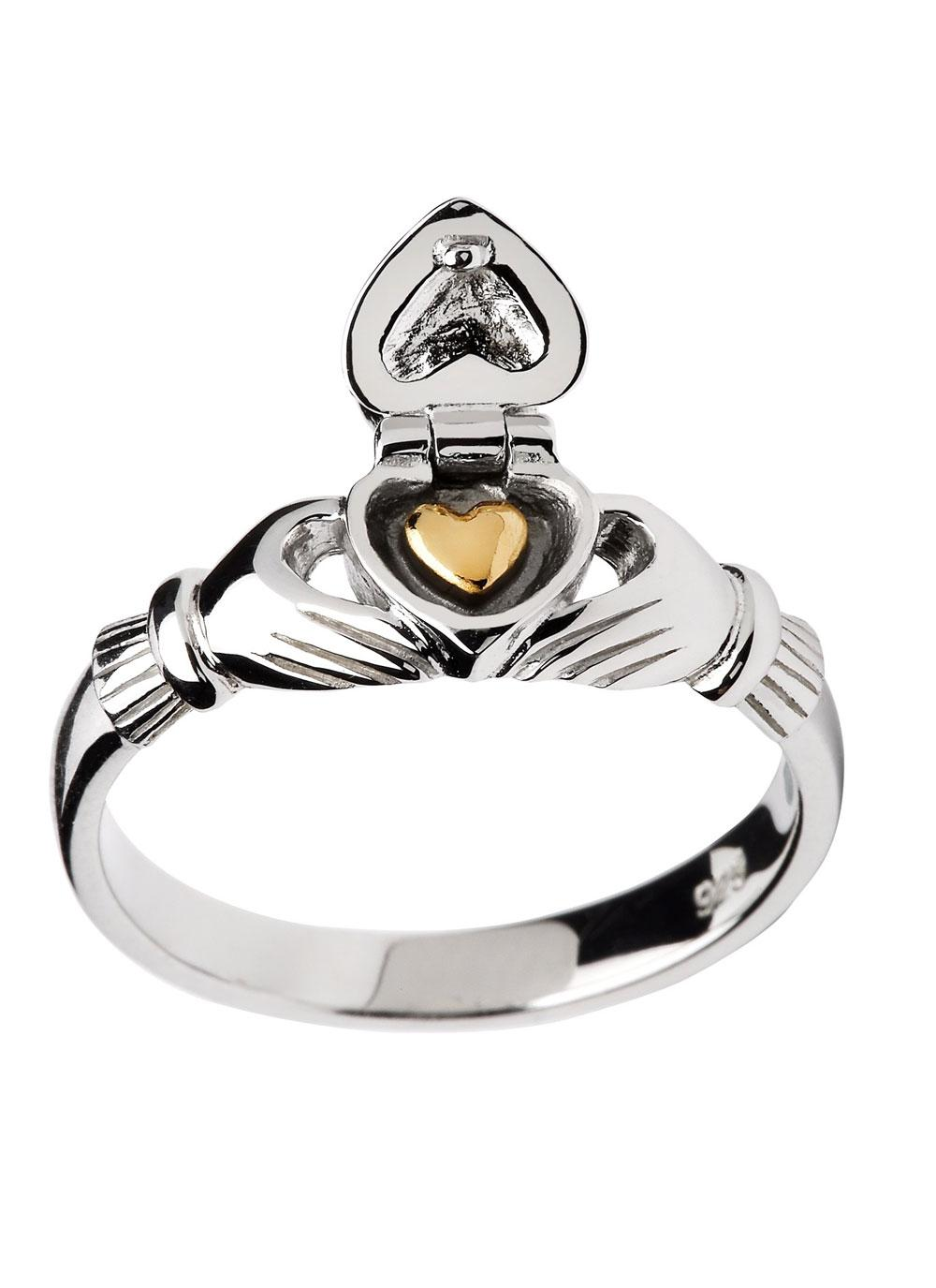 sterling silver sweetheart claddagh ring heart ring blarney. Black Bedroom Furniture Sets. Home Design Ideas