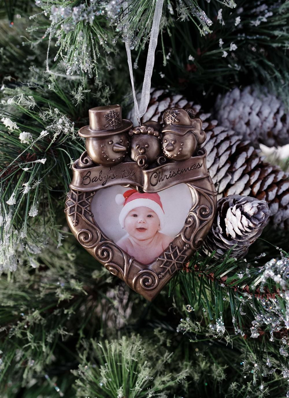 Genesis | Baby\'s First Christmas Frame Ornament | Blarney