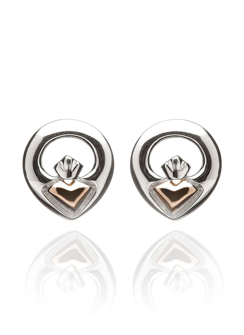 il stud irish claddagh earrings etsy shipping sterling silver free market