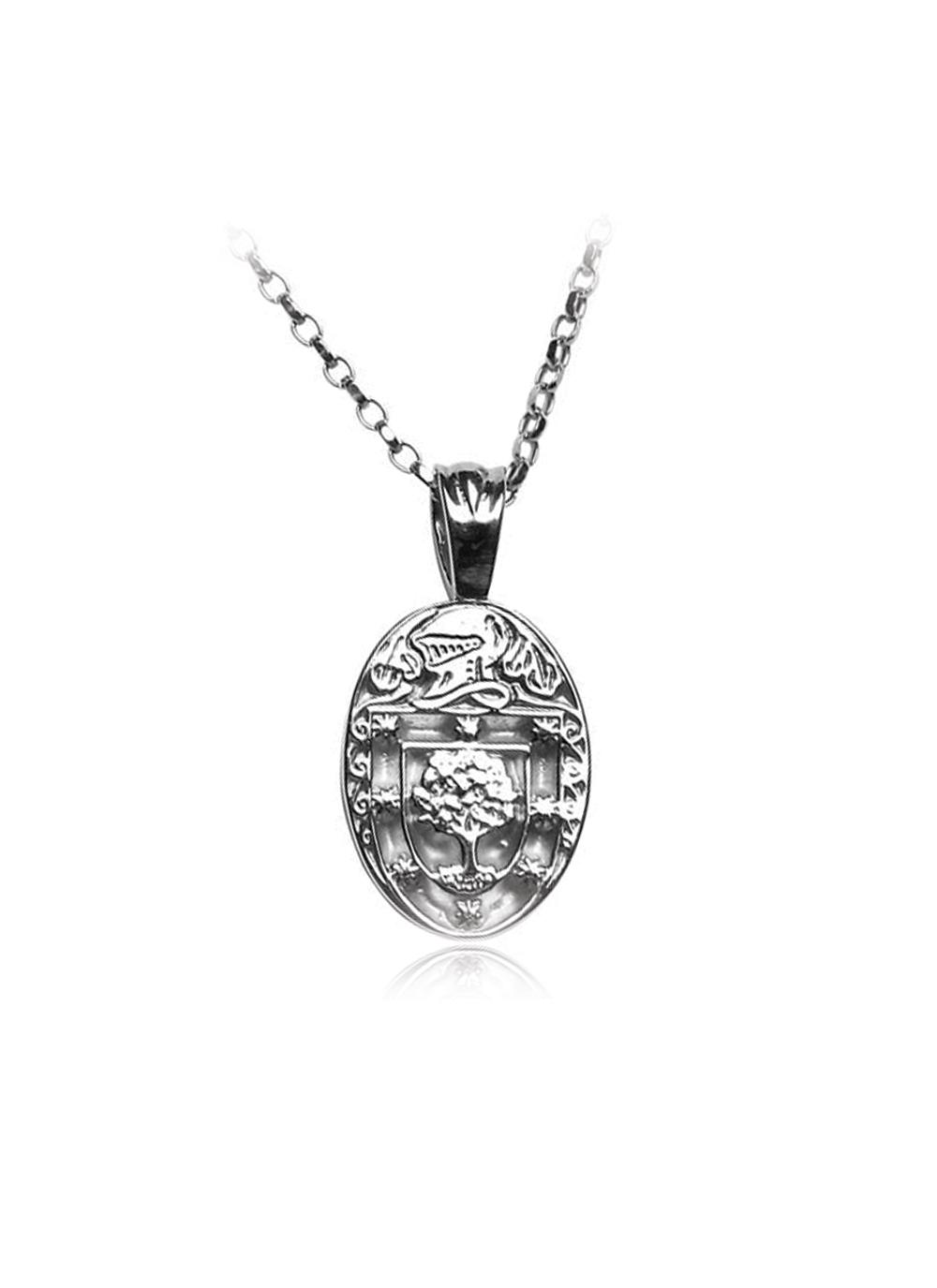 Personalized Oval Coat Of Arms Family Pendant Blarney