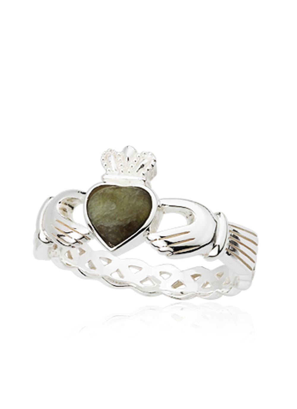 Connemara Marble Claddagh Weave Ring Blarney Com