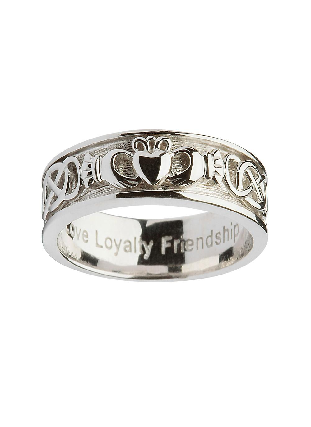 claddagh claddaghside bands irish tungsten ring