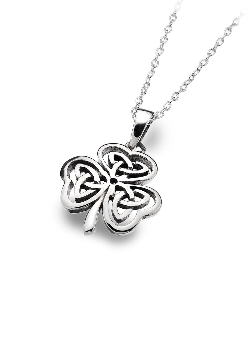 Sterling silver shamrock pendant blarney sterling silver shamrock pendant audiocablefo