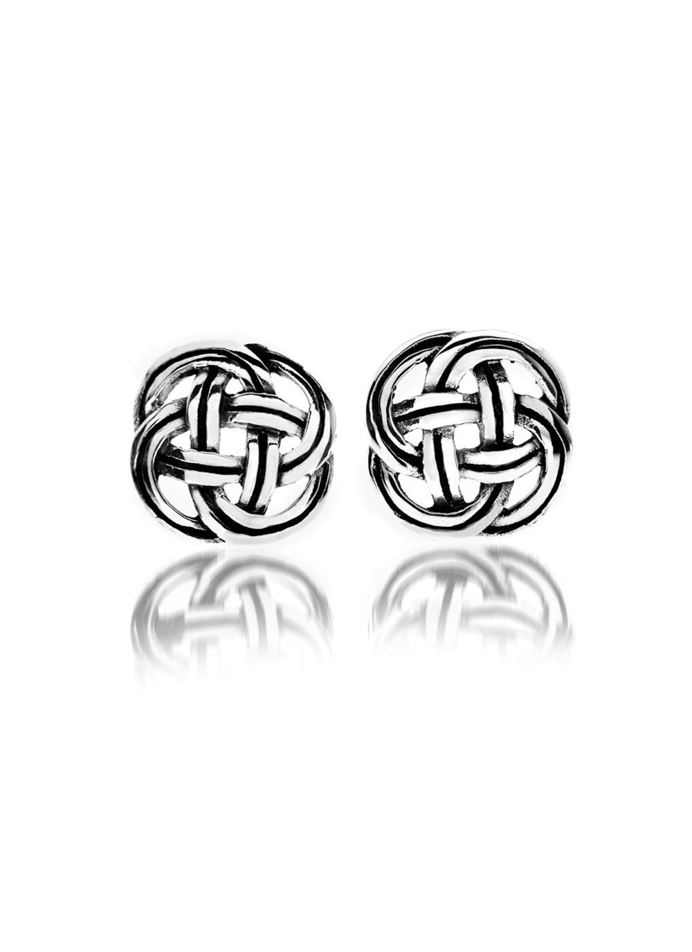 love modi infinite nirav knot infinity eternity studs l earrings celtic