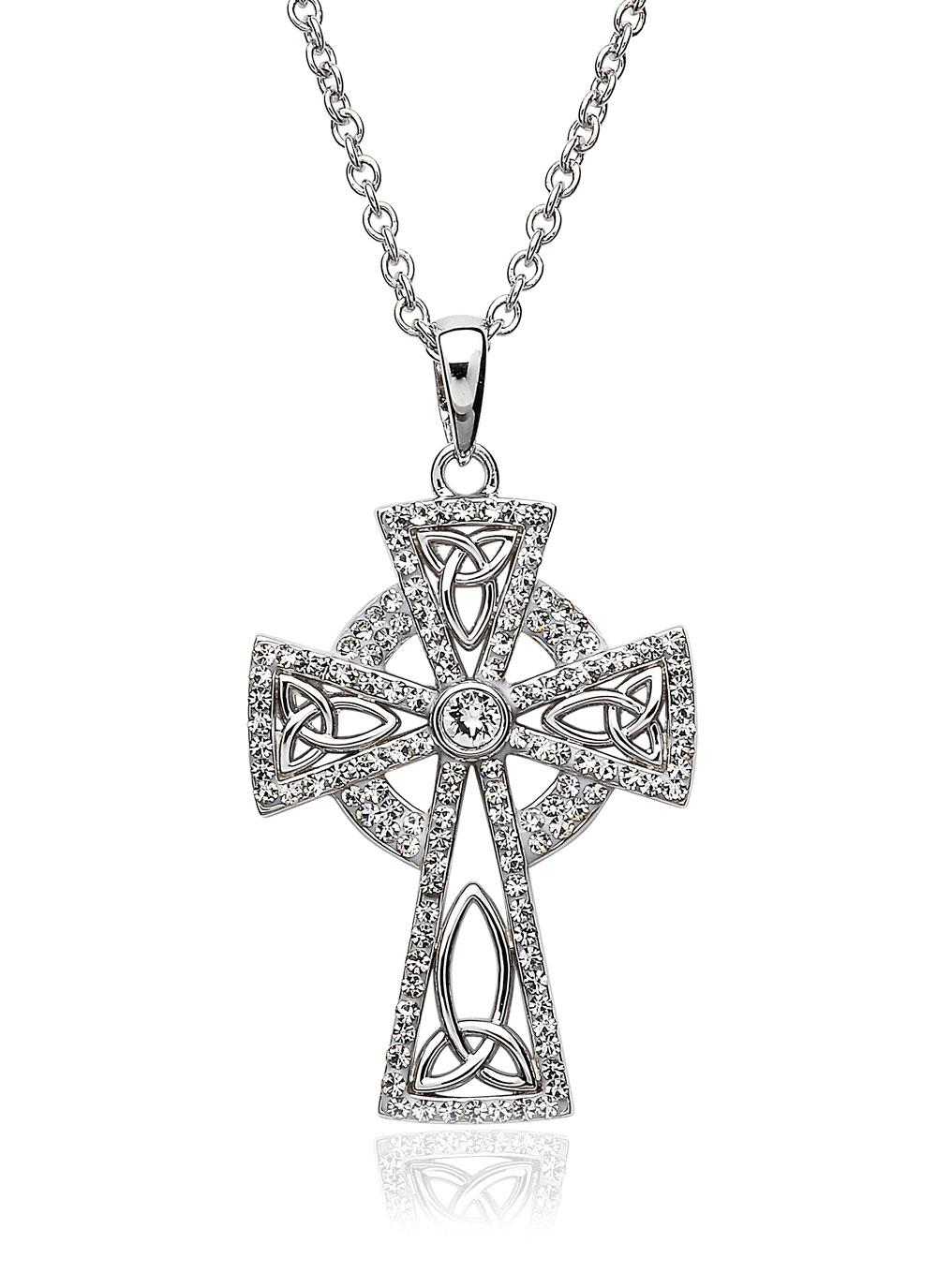 Celtic pendants celtic knot jewelry celtic cross necklace celtic cross pendant embellished with swarovski crystals biocorpaavc