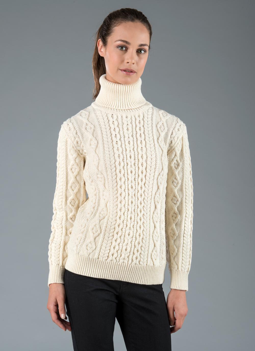 Sheena Aran Polo Neck Sweater | Blarney