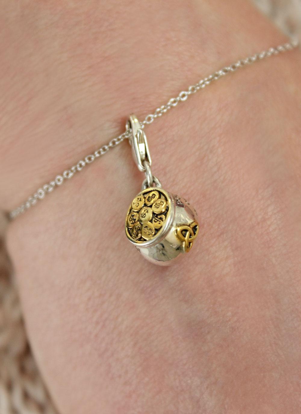 Celtic Trinity Pot Of Gold Charm Blarney Com