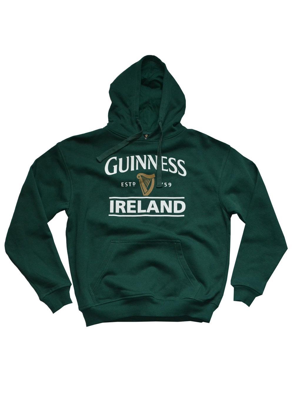 Men/'s Guinness Sweater Bottle Green Crew Neck  Pullover style  Long sleeves