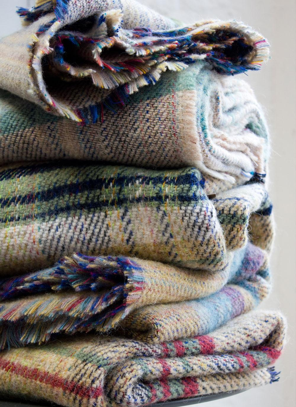 Recycled Wool Throws Set Of Two Blarney