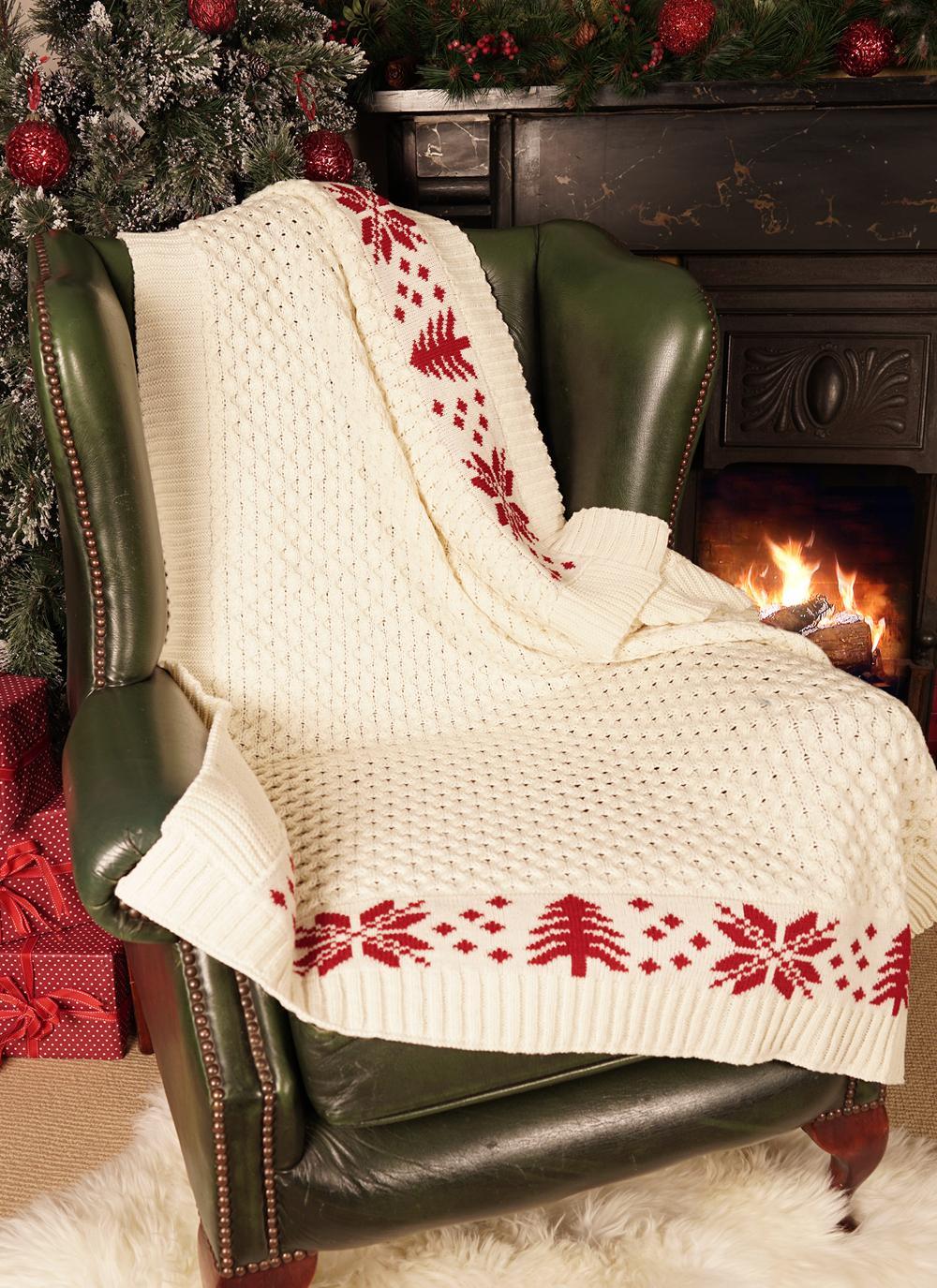 Aran Christmas Throw Blarney