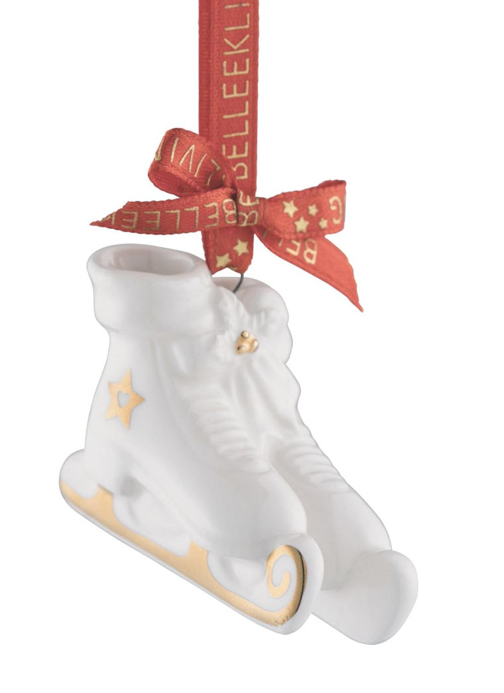 Belleek Living Ice Skates Mini Ornament | Blarney
