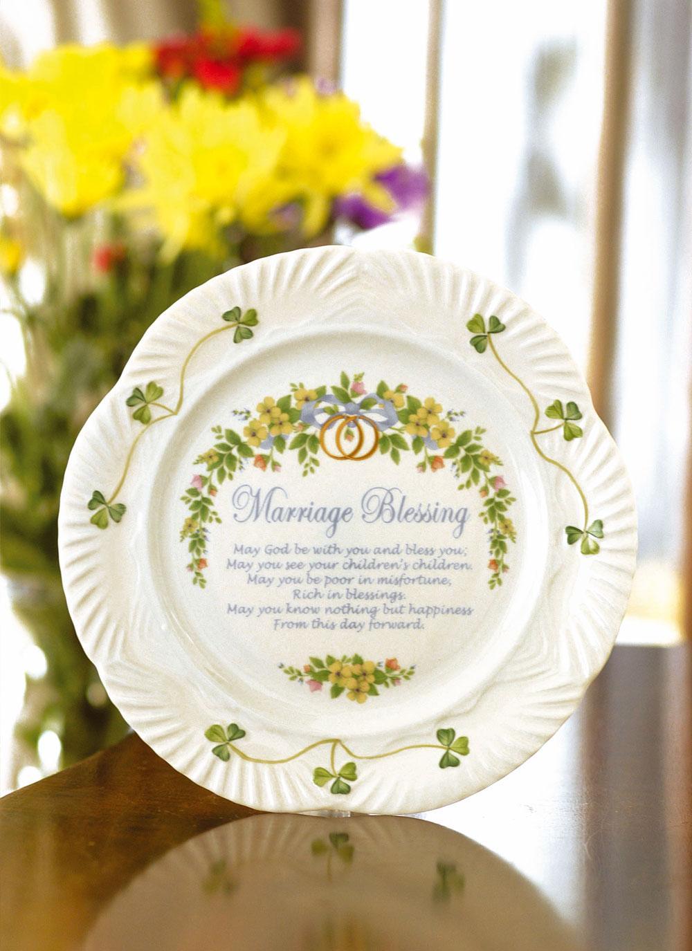 Belleek   Marriage Blessing Plate   Blarney
