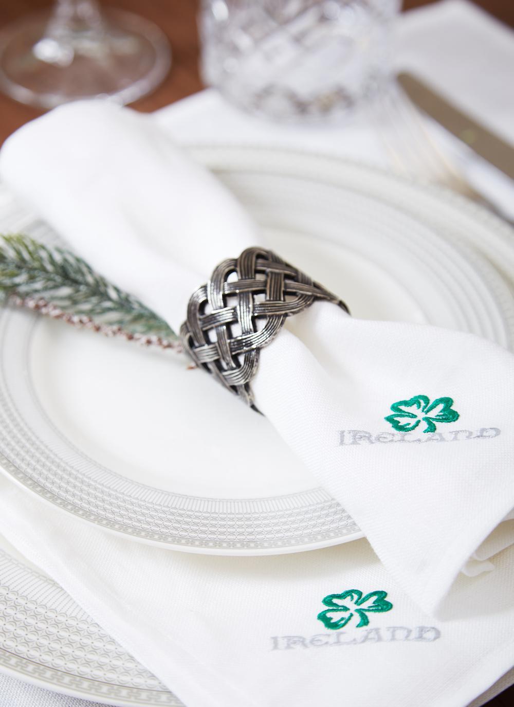 Celtic Knot Napkin Rings Set Of 4 Blarney
