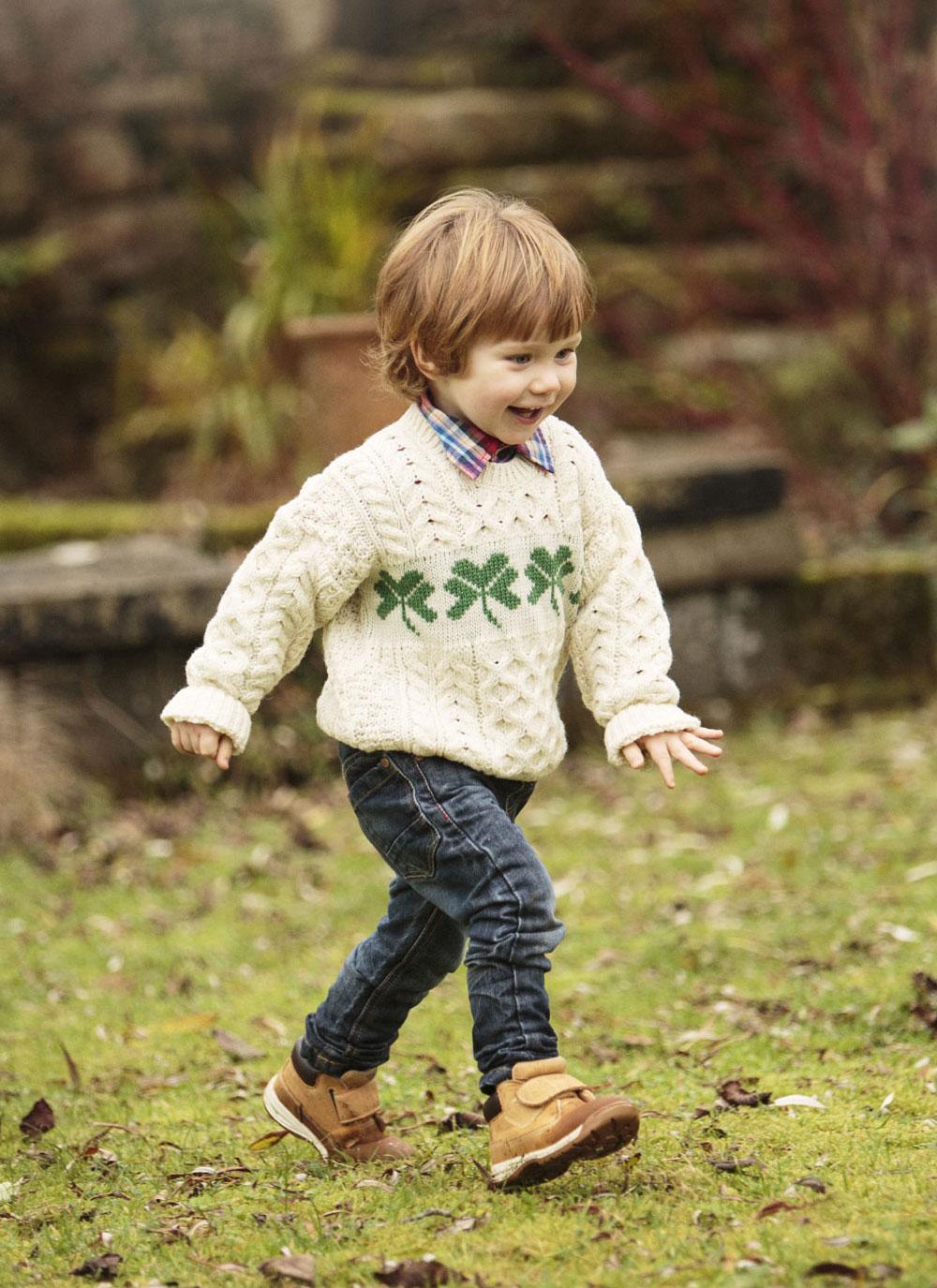 Shamrock Kids Aran Sweater Blarney Woollen Mills