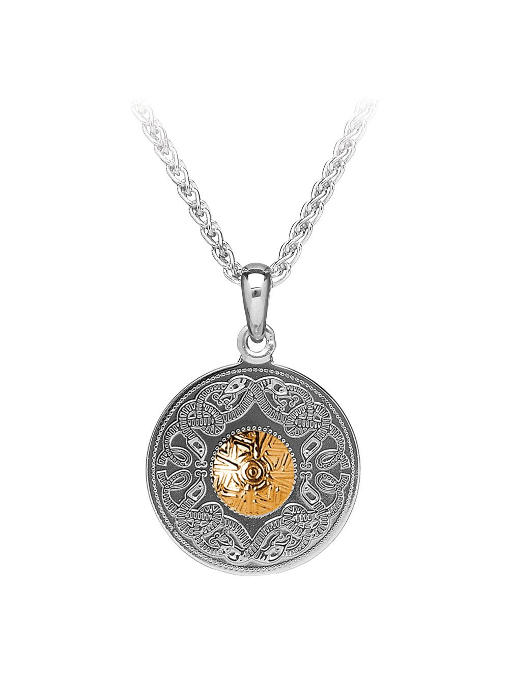 Large Celtic Style Locket with Charms and Beaded Chain