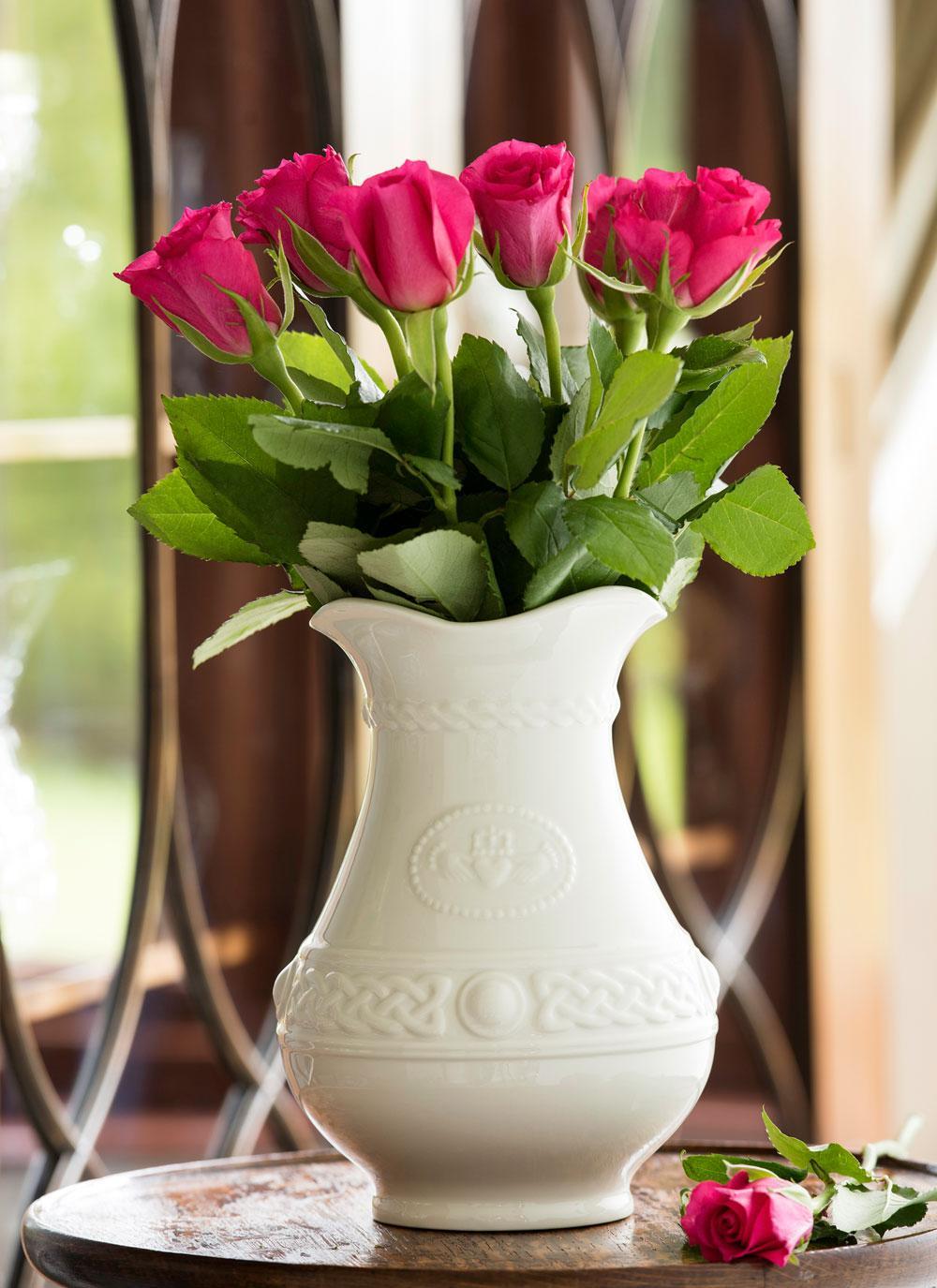 Belleek Claddagh 8 Inch Vase