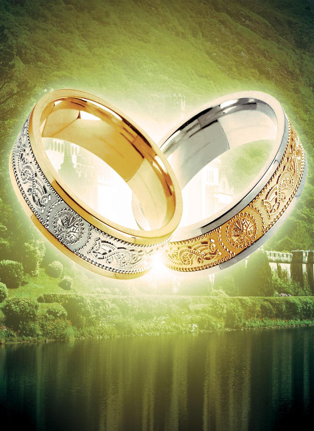 ladies 10k gold signature wedding band blarney