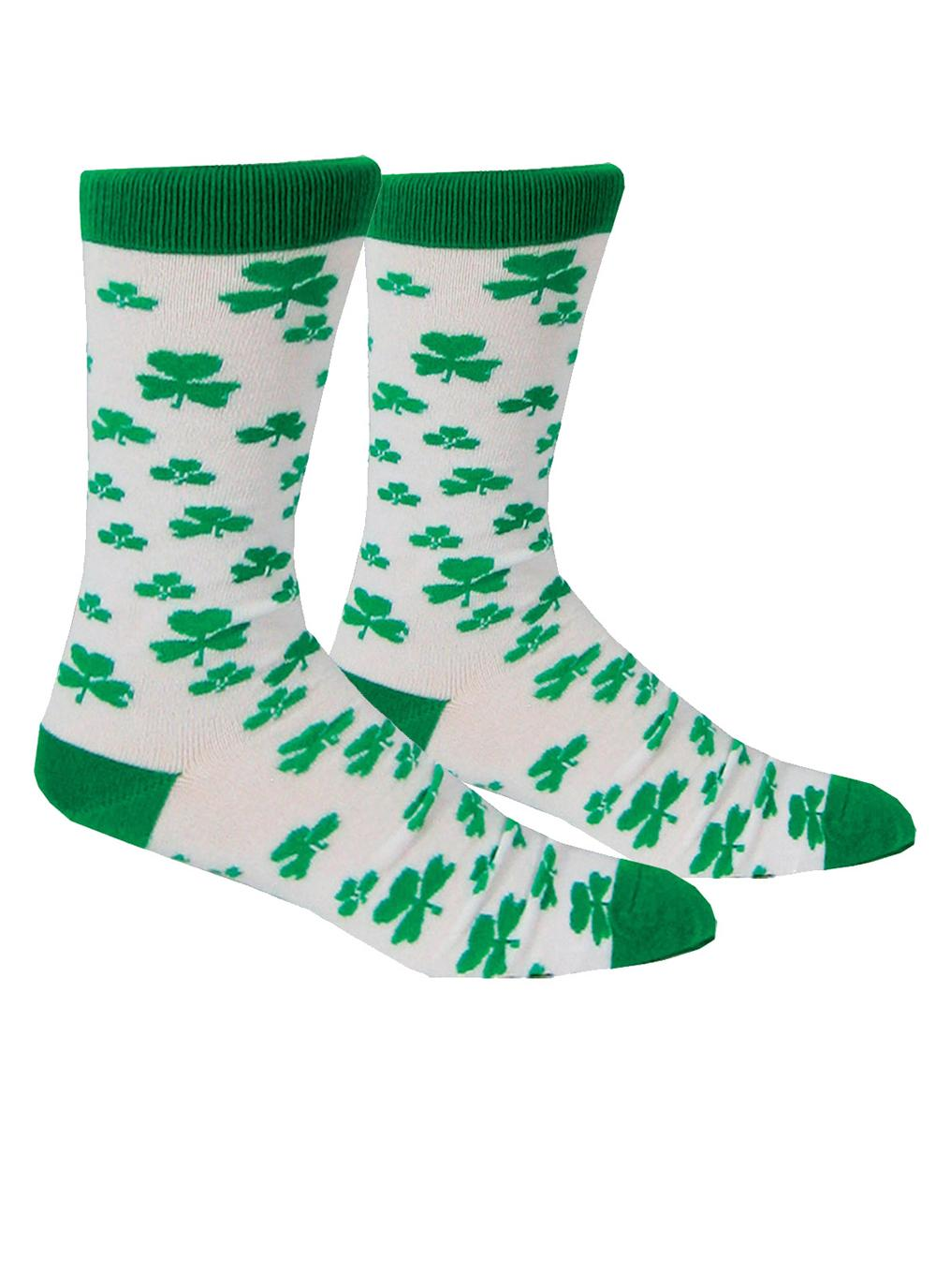Navy Shamrock Kids Socks