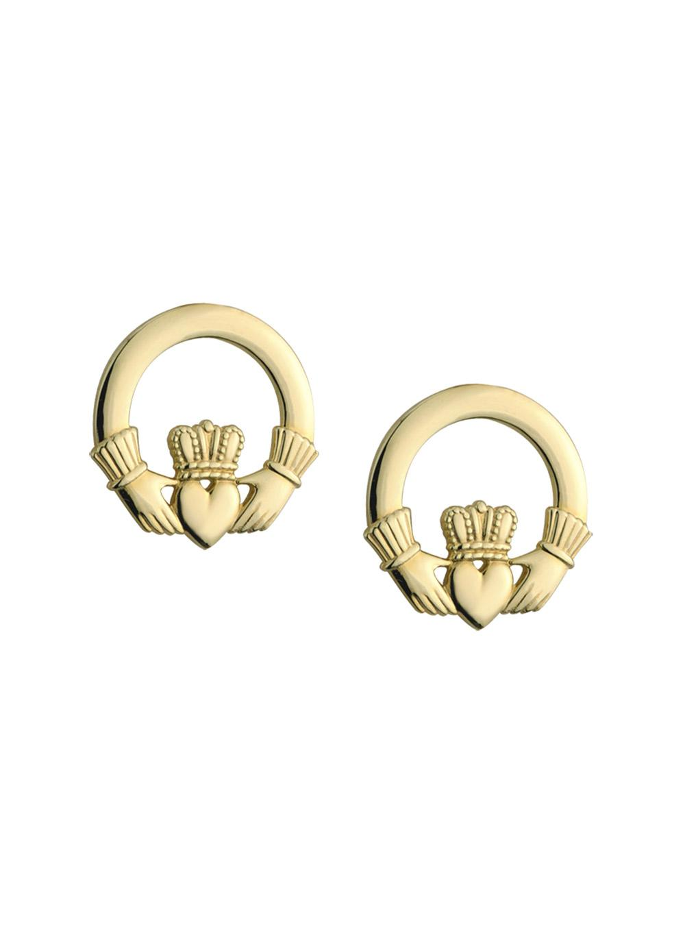 iconic of lor house claddagh gold and stud shop irish blarney rose earrings silver