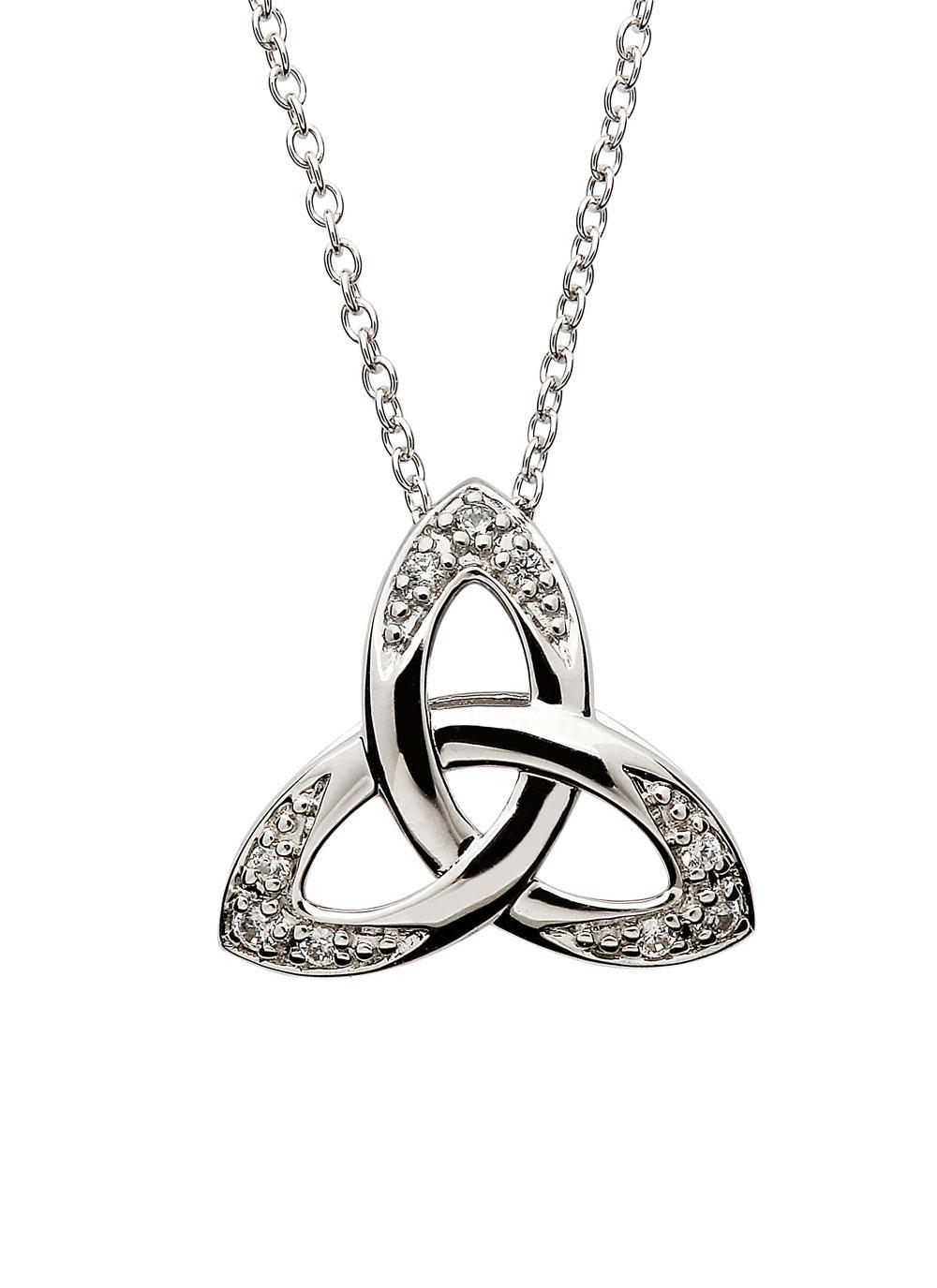 Celtic stone set trinity knot pendant blarney celtic stone set trinity knot pendant aloadofball Choice Image