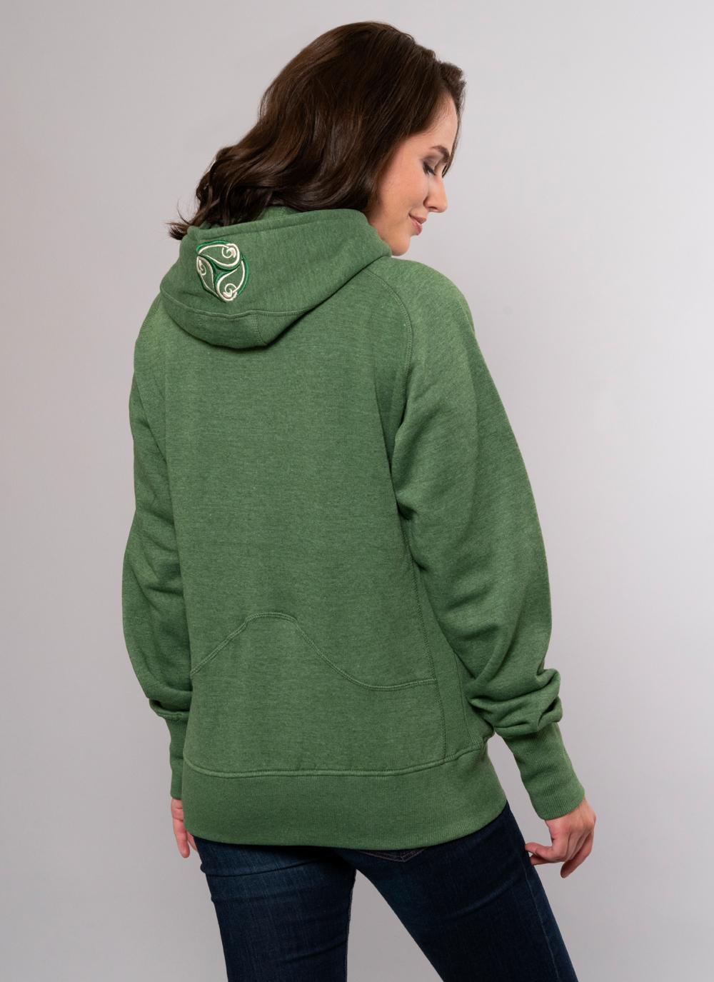 Ladies Ireland Fitted Hoody New Ladies Cotton Full Zip Hoodie Irish Hooded Top