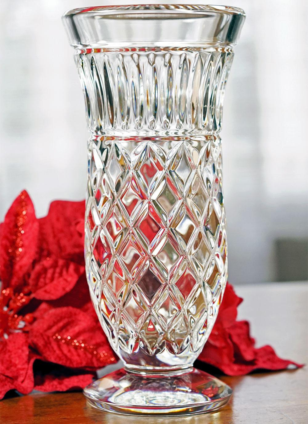 Waterford Crystal Marlene 8 Inch Footed Vase Blarney