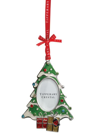 Tipperary Crystal Sparkle Christmas Tree Frame Ornament Blarney
