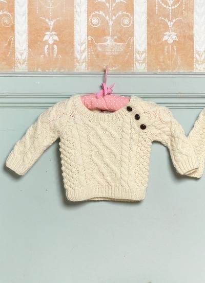 Baby Aran Sweater Blarney Woollen Mills