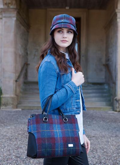 Emily Handbag Country Plum Tweed Blarney