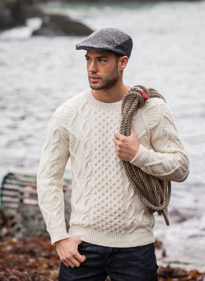 Fisherman Aran Cable Crew Sweater Blarney Woollen Mills