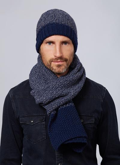 d5f15b97c3 Wool Cashmere Chunky Seed Stitch Hat & Scarf Set | Blarney
