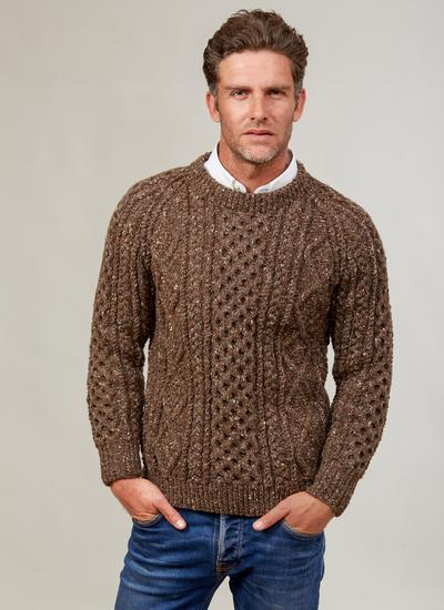 Men S Hand Knit Colour Crew Sweater Blarney