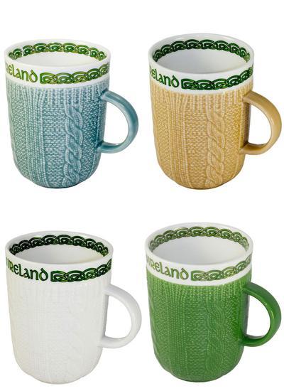 Aran Style Woven Mugs Set Of 4 Blarney