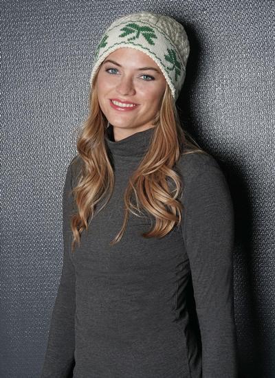 0018ba652c8 Shamrock Beanie Hat Natural