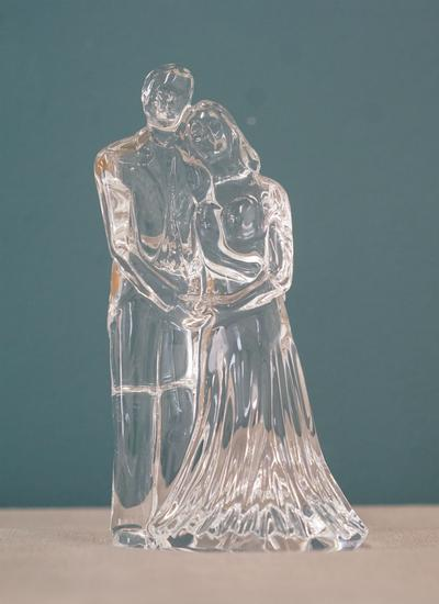 Waterford Crystal Wedding Couple Sculpture Blarney