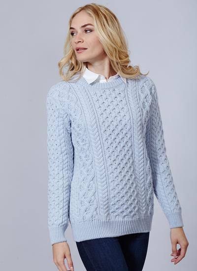 Blasket Honeycomb Stitch Aran Sweater | Blarney