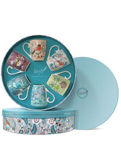 Tipperary Crystal Birdy Set Of 6 Mugs Gift Box Blarney