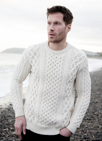 Blasket Honeycomb Stitch Aran Sweater Blarney