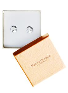 Sterling Silver Oyster Pearl Tiny Stud Earrings