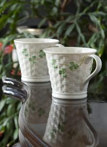 Shamrock Set of Two Shamrock Mugs