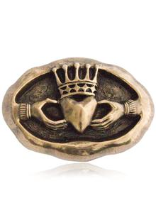 Bronze Celtic Claddagh Plaque