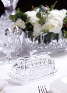 Waterford Crystal Lismore Covered Butter Dish