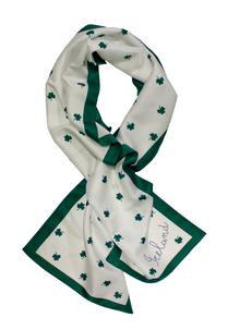 White Shamrock Long Scarf