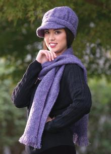 Newsboy Hat Violet Plain