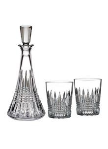 Waterford Crystal Lismore Diamond Decanter and DOF Tumbler Pair