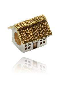 Sterling Silver Thatch Cottage Bead