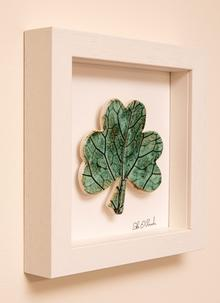 Handmade Framed Ceramic Shamrock