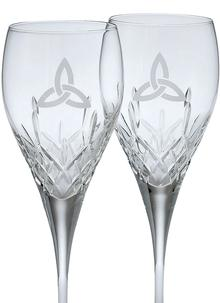 Galway Crystal Trinity Knot Wine Glasses (Pair)